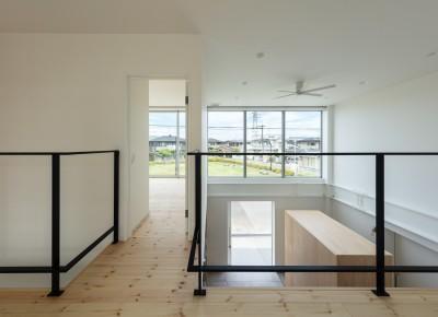 2階 廊下 (結崎の住宅 / House in Yuzaki)