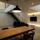結崎の住宅 / House in Yuzakiの写真 1階 LDK(夜景)
