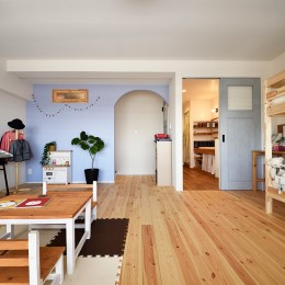 成長に合わせて変更できる子供部屋 (4LDKから2LDKリフォームでのびのび楽しく過ごせる家に)