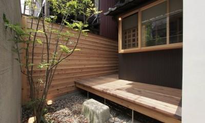突抜の町家/素材の質感 京町家リノベーション