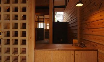 玄関/LDK|突抜の町家/素材の質感 京町家リノベーション