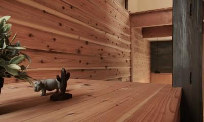リビング|突抜の町家/素材の質感 京町家リノベーション