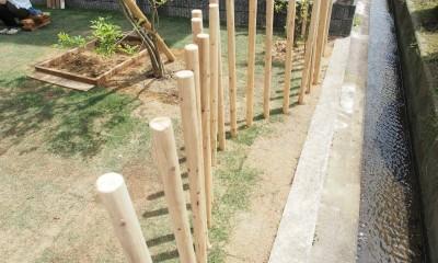橿原の住宅 (庭 / フェンス)