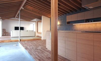 橋本の住宅 / 土間と縁側 (LDK / 土間)