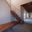 橋本の住宅 / 土間と縁側の写真 玄関土間 / ホール