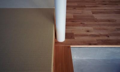 橋本の住宅 / 土間と縁側 (LDK / 畳)