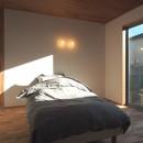 橋本の住宅 / 土間と縁側の写真 寝室