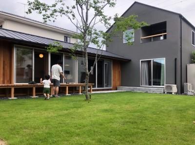 庭 / 外観 (橋本の住宅 / 土間と縁側)