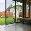橋本の住宅 / 土間と縁側の写真 庭 / 土間