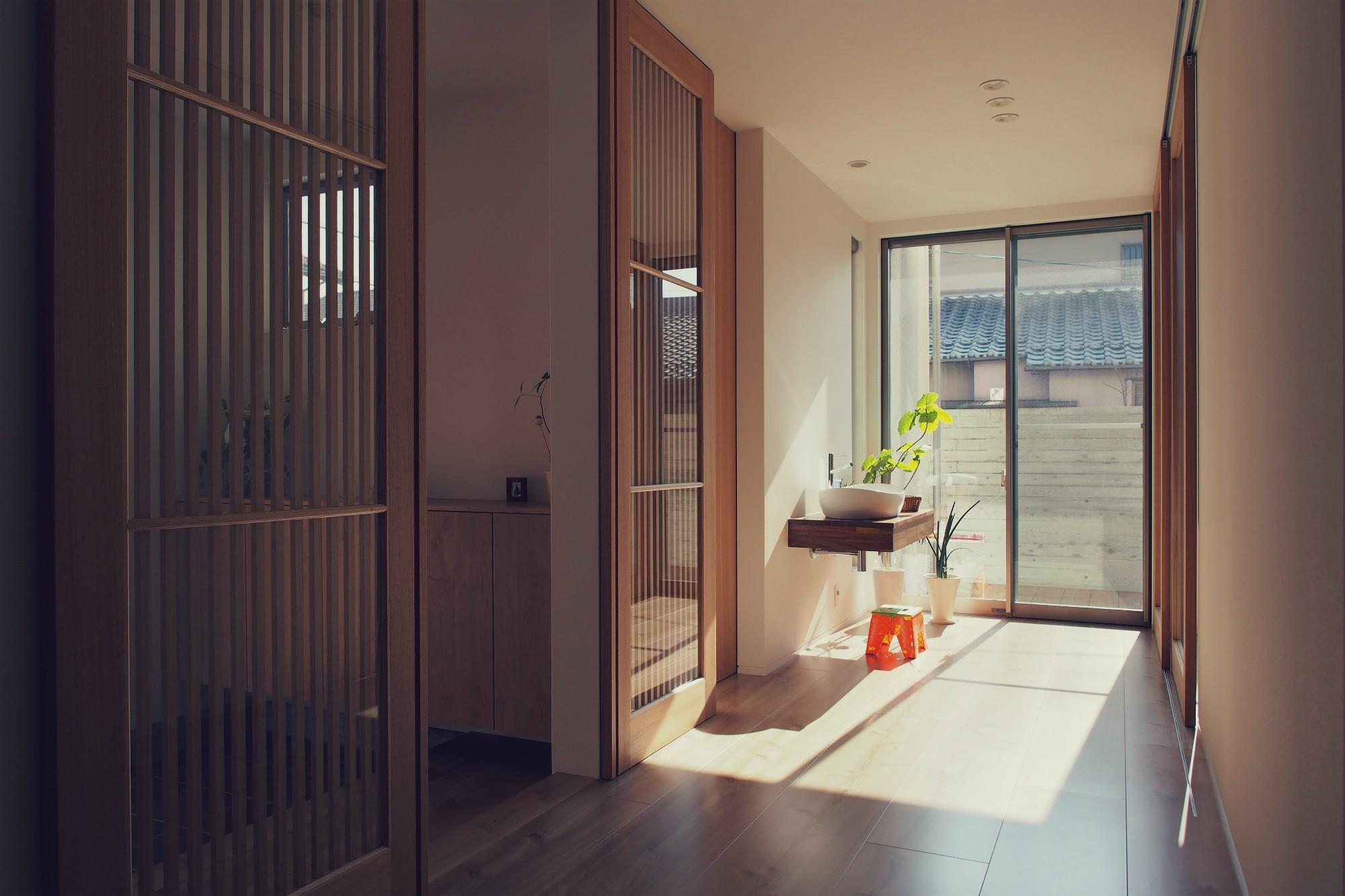 玄関事例:玄関ホール / フリースペース(大津の住宅)