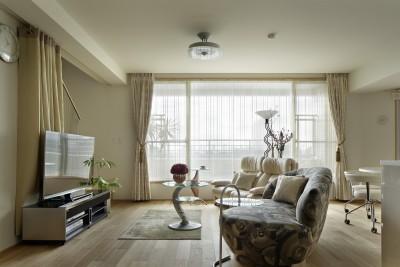 リビング (House-S Renovation / シニア世代のマンションリノベーション)