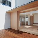6つのテラスとつながる開放的な家の写真 テラス