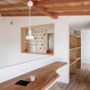 6つのテラスとつながる開放的な家の写真 スタディーコーナー