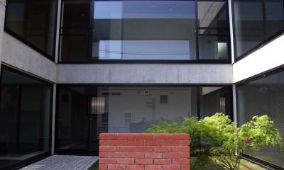 目黒の都市型住宅 (中庭)