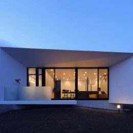 霧島の住宅 (外観夜景1)