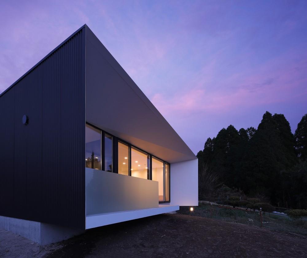 霧島の住宅 (外観夜景2)