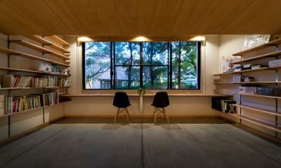 大屋根の家 (書斎)