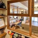 木張りで やさしい空間にの写真 書斎