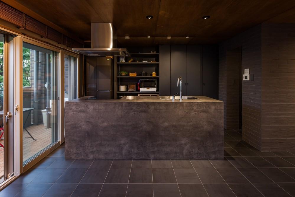 BETONグレーの家 (キッチン)