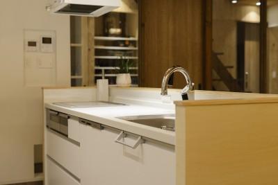 土間ギャラリーの家 (キッチン)