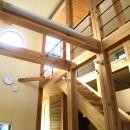 ちいさな木のオフィス 〜 カフェのような店舗併用住宅 〜の写真 リビング