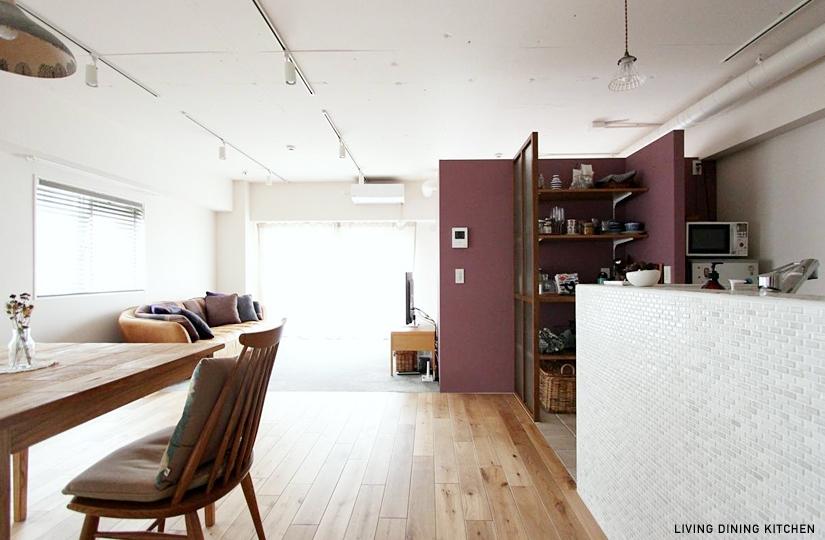 わたしサイズの部屋 LIVING DINING KITCHEN1