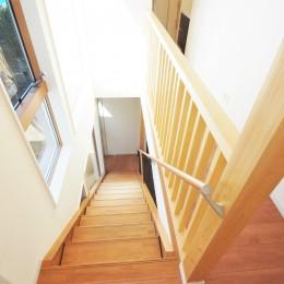 いってきます。おかえり。~家族がつながる家~ (オープン階段)