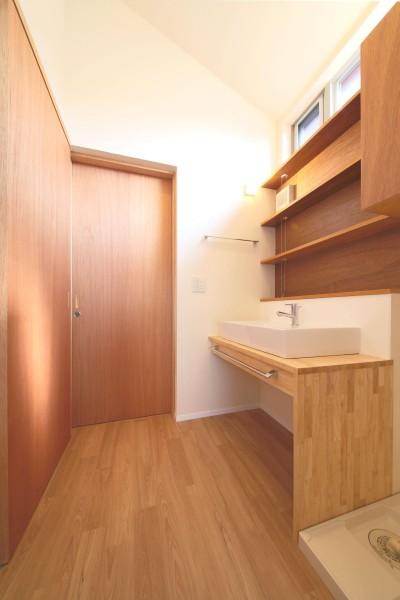 洗面脱衣室 (赤の家・RED HOUSE)