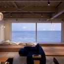 private villa nookの写真 リビングから海をみる