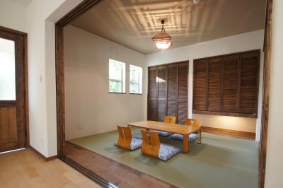 1F 和室 (大きなテラスのある~理想の家~)