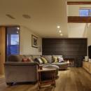 House-H Renovation / 築40年木造住宅のリノベーションの写真 リビングと暖炉