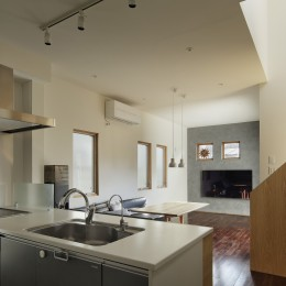 中野のSOHO / ツーバーフォー住宅のリノベーション (LDK)