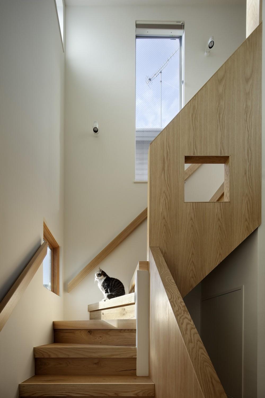 中野のSOHO / ツーバーフォー住宅のリノベーション (階段)