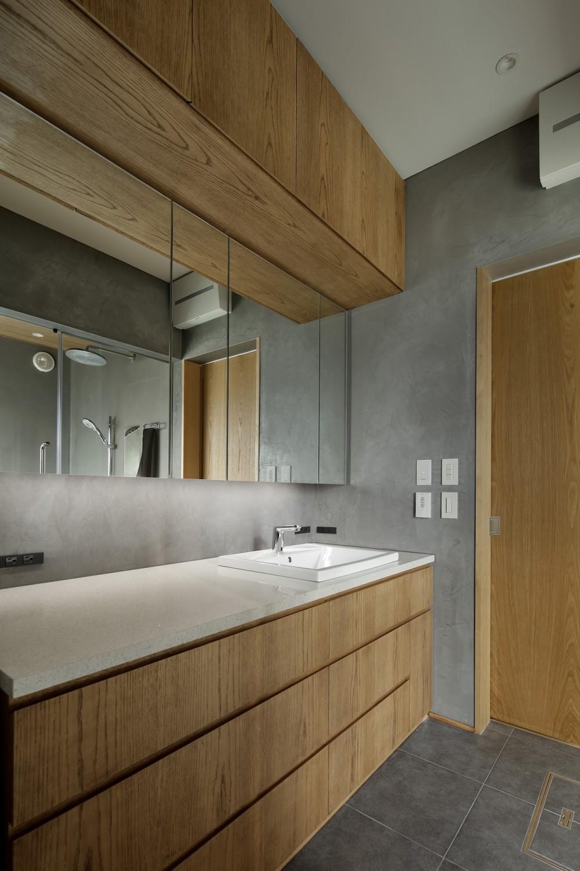中野のSOHO / ツーバーフォー住宅のリノベーション (洗面所)
