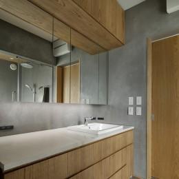 中野のSOHO / ツーバイフォー住宅のリノベーション (洗面所)