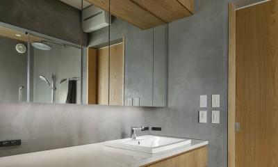 洗面所|中野のSOHO / ツーバイフォー住宅のリノベーション