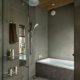 中野のSOHO / ツーバーフォー住宅のリノベーション (バスルーム)