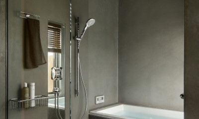バスルーム|中野のSOHO / ツーバーフォー住宅のリノベーション