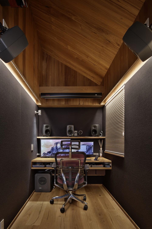 中野のSOHO / ツーバーフォー住宅のリノベーション (仕事部屋)