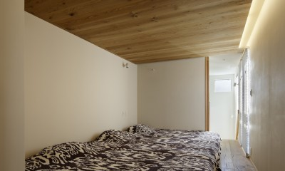 寝室|中野のSOHO / ツーバイフォー住宅のリノベーション