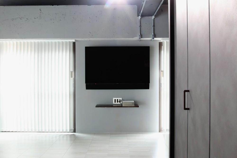 ダークカラーを基調とした大人かっこいい東京リノベーション (LD)