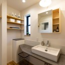 カフェのようにくつろげるリビングダイニングの写真 洗面室