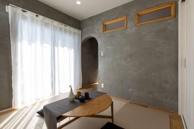 和室 (カフェのようにくつろげるリビングダイニング)