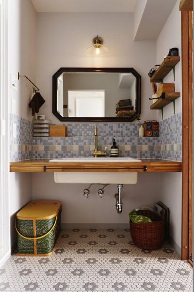 洗面室 (10年越しの理想の家。長年の夢が叶いすぎて不思議な気持です。)