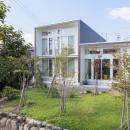 「潤い感のある緑」の成功例の写真 石と雑木の庭