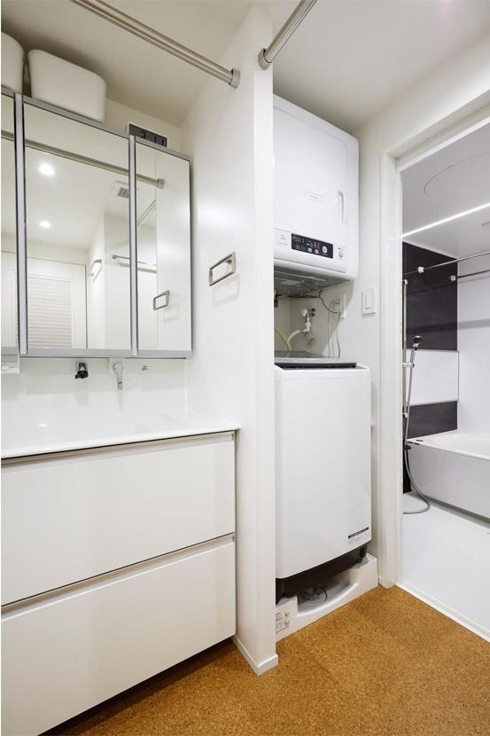 バス/トイレ事例:家族だけのサニタリールーム(デザインと実用性、広さと収納力。こだわりどころにメリハリをつけて、満足度は満点に。)