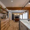 カフェのようにくつろげるリビングダイニングの写真 キッチン