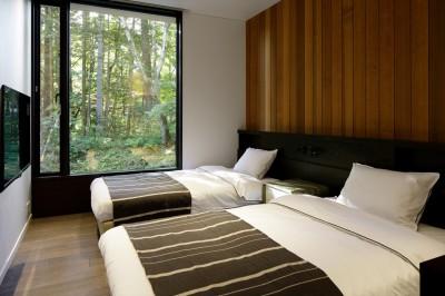 寝室 (ラ・メゾン軽井沢)