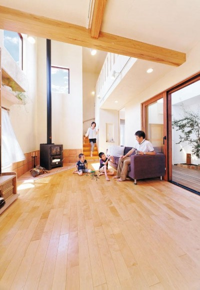 大阪府個人住宅 (リビング)
