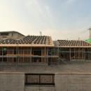 愛知の土壁[工事中]の写真 竹小舞と和瓦葺き